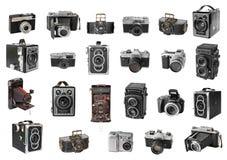 Rétros appareils-photo de photo Images libres de droits