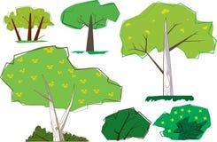 Rétros arbres de la hanche 60s Photo libre de droits