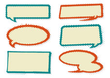 Rétros bulles de la parole de style illustration libre de droits