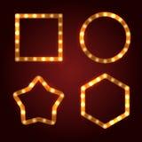 Rétros cadres d'ampoule réglés illustration de vecteur