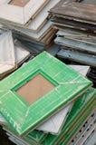 Rétros cadres de tableau fabriqués à la main Images libres de droits