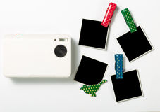 Rétros cadres et appareil-photo de photo Images stock
