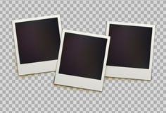 Rétros cadres instantanés de photo illustration libre de droits
