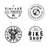 Rétros calibres d'insignes pour la réparation de motos illustration stock