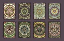 Rétros cartes de collection Origines ethniques Carte d'invitation Images libres de droits