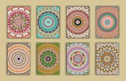 Rétros cartes de collection Origines ethniques Carte d'invitation Photos stock