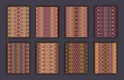 Rétros cartes de collection Origines ethniques Carte d'invitation Image libre de droits