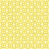 Rétros cercles blancs dans les rangées sur le jaune ensoleillé Photographie stock