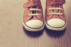 Rétros chaussures Photos stock