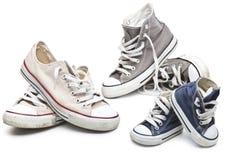 Rétros chaussures de sport Photographie stock