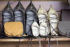 Rétros chaussures en cuir Photographie stock libre de droits