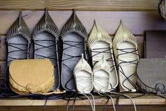 Rétros chaussures en cuir Images stock