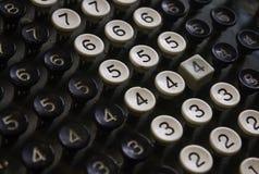 Rétros clés numérales Images libres de droits