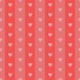 Rétros coeurs sans couture de modèle Illustration de vecteur Images stock