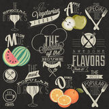 Rétros conceptions de menu de restaurant de style de vintage. Photo stock
