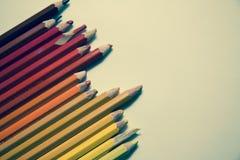 Rétros crayons de filtre Image libre de droits