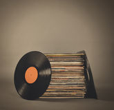 Rétros disques de musique de vintage Image stock