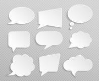 Rétros ensemble de vecteur d'isolement par bulles vides blanches de la parole illustration stock