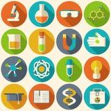 Rétros expériences en chimie de la science Photos stock