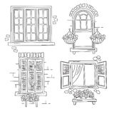 Rétros fenêtres Photo stock