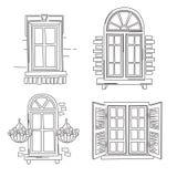 Rétros fenêtres Photographie stock libre de droits