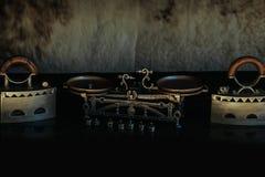 Rétros fer et échelles métallisés par antiquité Image stock
