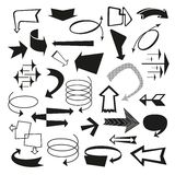 Rétros flèches de vintage et icônes d'indicateur illustration libre de droits