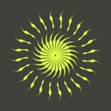 Rétros formes d'éclat de Sun Logo de vintage, labels, insignes Élément de conception de vecteur d'isolement Éclat noir minimal de image libre de droits
