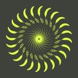 Rétros formes d'éclat de Sun Logo de vintage, labels, insignes Élément de conception de vecteur d'isolement Éclat noir minimal de images libres de droits