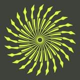 Rétros formes d'éclat de Sun Logo de vintage, labels, insignes Élément de conception de vecteur d'isolement Éclat noir minimal de photos stock