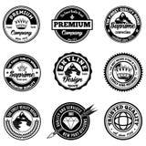 Rétros insignes classiques photographie stock libre de droits
