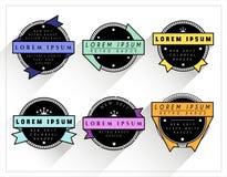 Rétros insignes colorés et de BW Photo stock