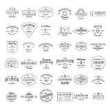 Rétros insignes de logo de vintage réglés Photographie stock