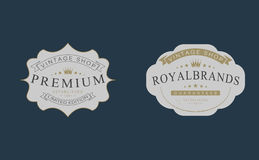 Rétros insignes de vintage, logos, labels illustration libre de droits