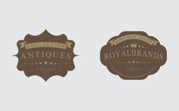 Rétros insignes de vintage, logos, labels, illustration stock