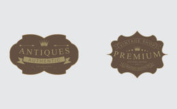 Rétros insignes de vintage, logos, labels, illustration de vecteur