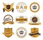 Rétros insignes et labels de vintage illustration libre de droits