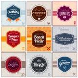 Rétros labels Image libre de droits