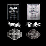 Rétros labels 06black photos stock