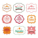 rétros labels de logo de boulangerie de vintage Photo libre de droits