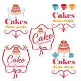 rétros labels de logo de boulangerie de vintage Photo stock