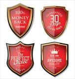 Rétros labels de qualité de la meilleure qualité Images stock