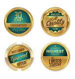 Rétros labels de qualité de la meilleure qualité Photos stock