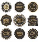 Rétros labels de qualité de la meilleure qualité Photos libres de droits