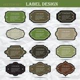 Rétros labels réglés d'affaires Carte ou invitation Photos libres de droits
