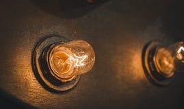 Rétros lampes Photos stock