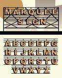 Rétros lettres de signe de chapiteau de vecteur de style Images stock
