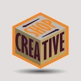 Rétros logotypes assortis d'insignes de conception de couleur Photo libre de droits