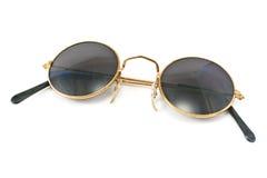 Rétros lunettes de soleil encadrées rondes Images stock