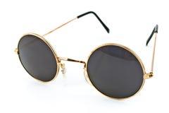 Rétros lunettes de soleil encadrées rondes Image stock